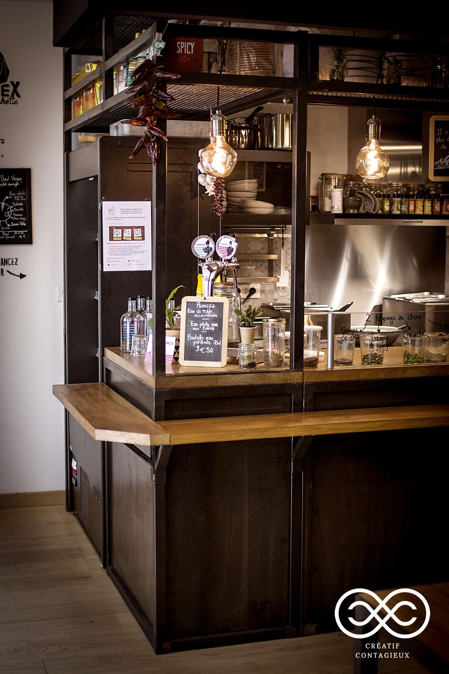 Créatif Contagieux Aménagement Restaurant d'espace sur mesure style industriel