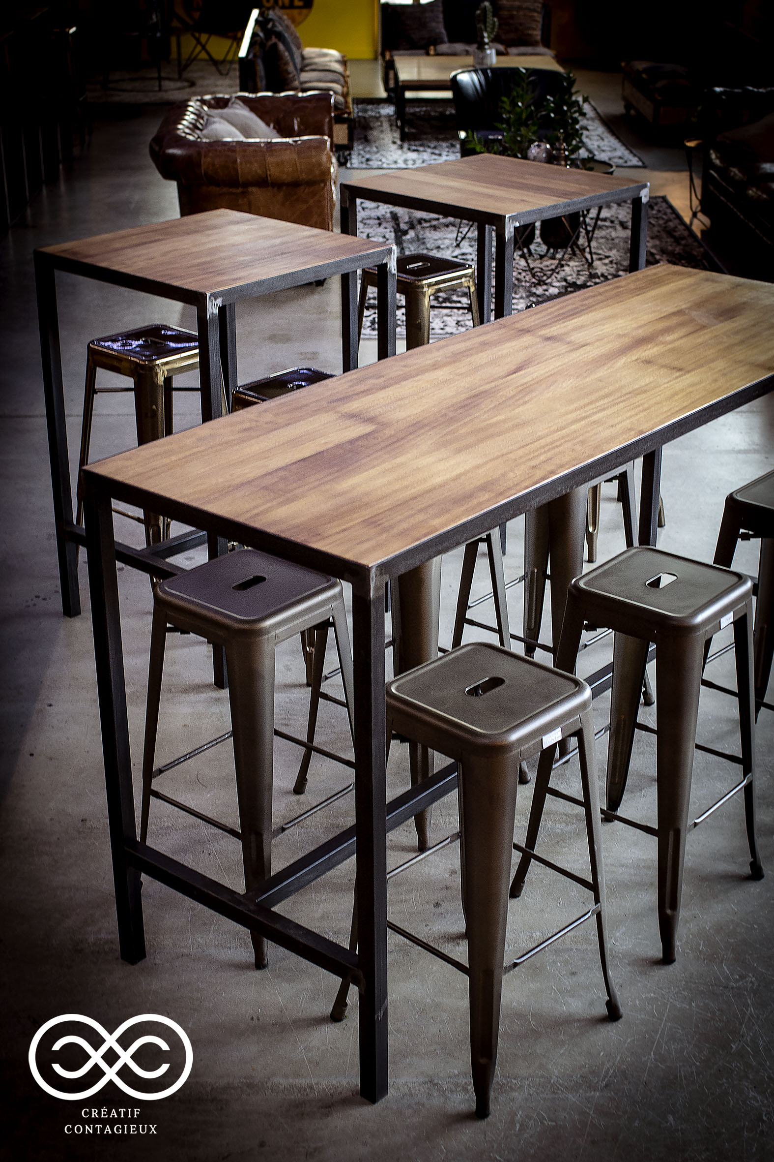 Table haute industrielle