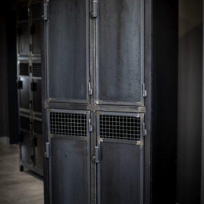 Vestiaires 4 portes Métal sur mesure