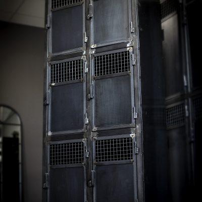 Vestiaires Industriels 6 portes sur mesure