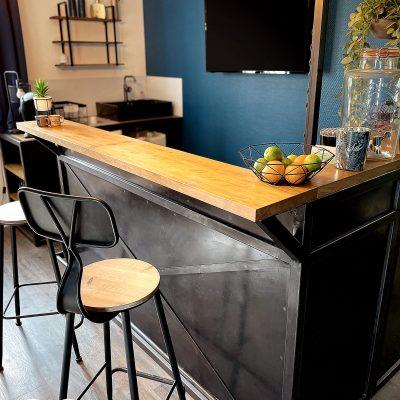 Comptoir bar d'accueil
