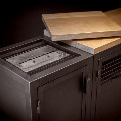 Enfilade sur mesure metal et bois