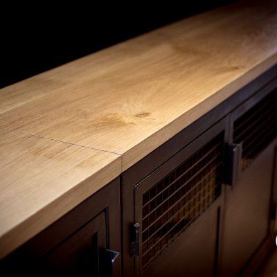 Enfilade sur mesure metal et bois Toulouse creatif contagieux