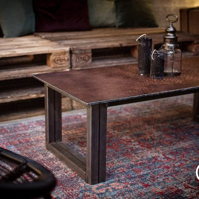 Table basse 100% acier