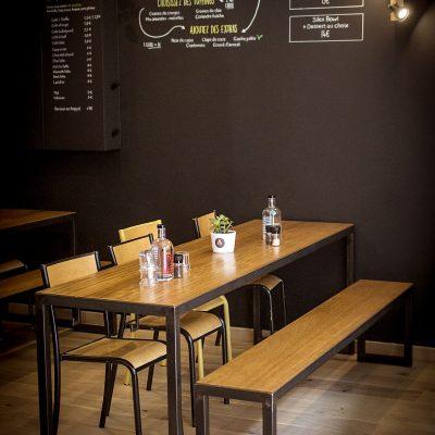 Restaurant Silex et Fourchette Aménagement sur mesure