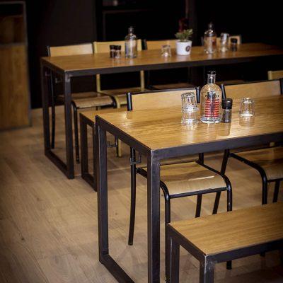Restaurant Aménagement Design Metal et Bois