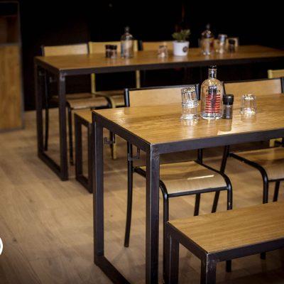 Restaurant Aménagement Design Bois et Metal