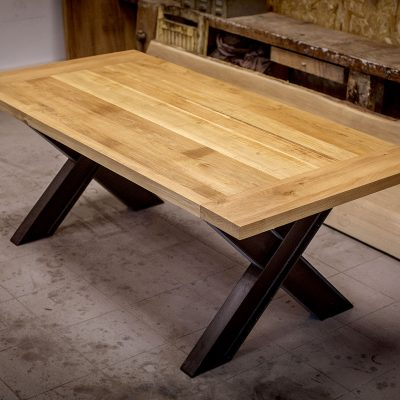 TABLE BRUT DE SCIAGE - Acier