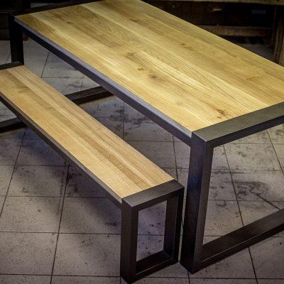 Table et banc industriels